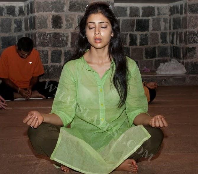 South India Actress Shreya At Dhyanalinga