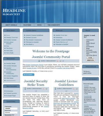 free joomla 1.5 template business