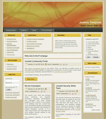business joomla template orange
