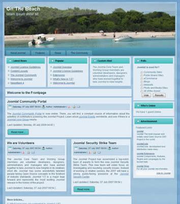 joomla 1.5 template on the beach