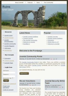 two column free joomla template