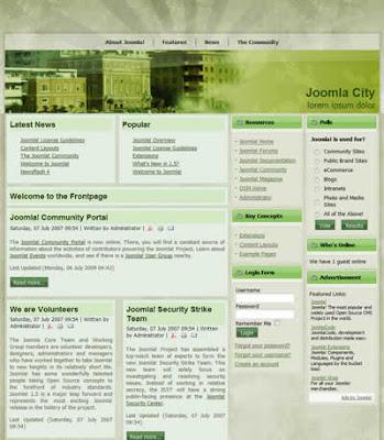 grunge joomla template