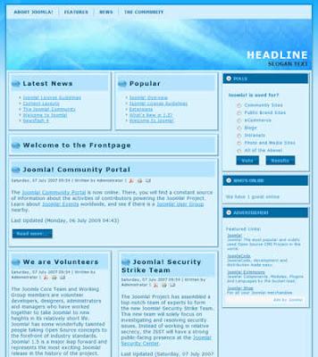 jomla template for blogging