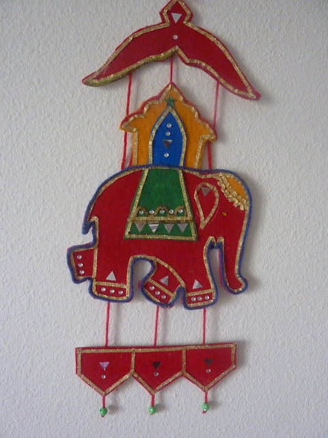 Felt Wall Hanging Indian Elephant