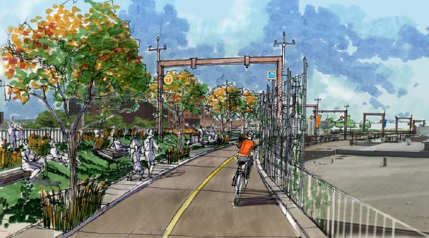 Rendering of the Proposed Iron Horse Trestle