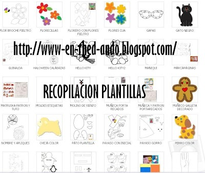 Descargar 268 Plantillas, Moldes o Patterns para Fieltro