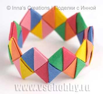 Como hacer un Brazalete o Pulsera de Origami