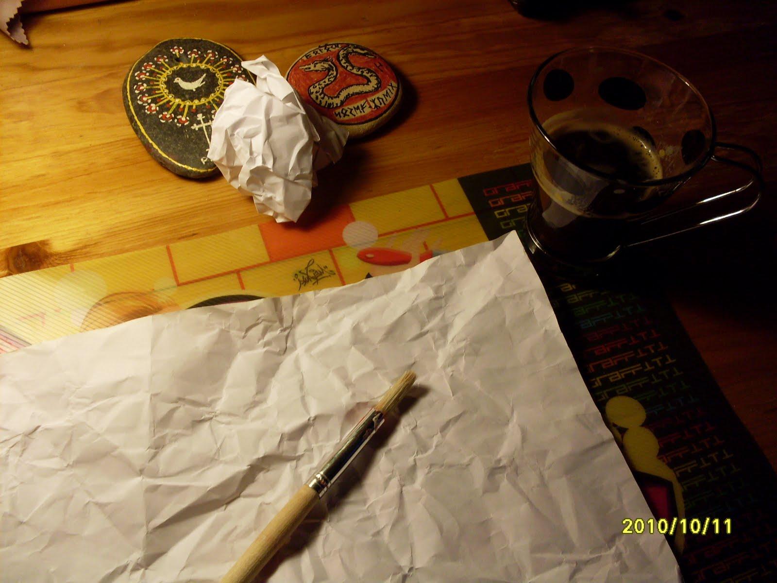 envejecer, papel, papiros, vintage, antiguo, técnica, método, manualidades