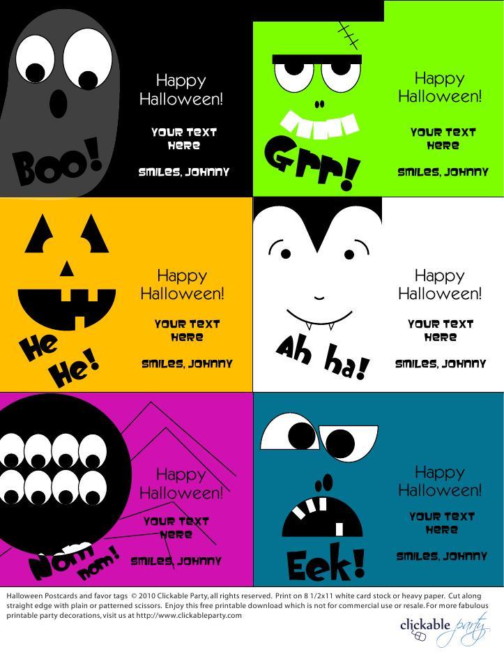 Perfecto Tarjeta De Halloween Imprimible Gratis Regalo - Dibujos ...