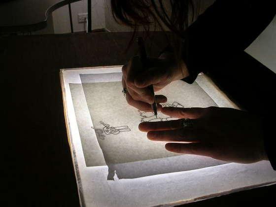 calcar dibujos con proyector casero