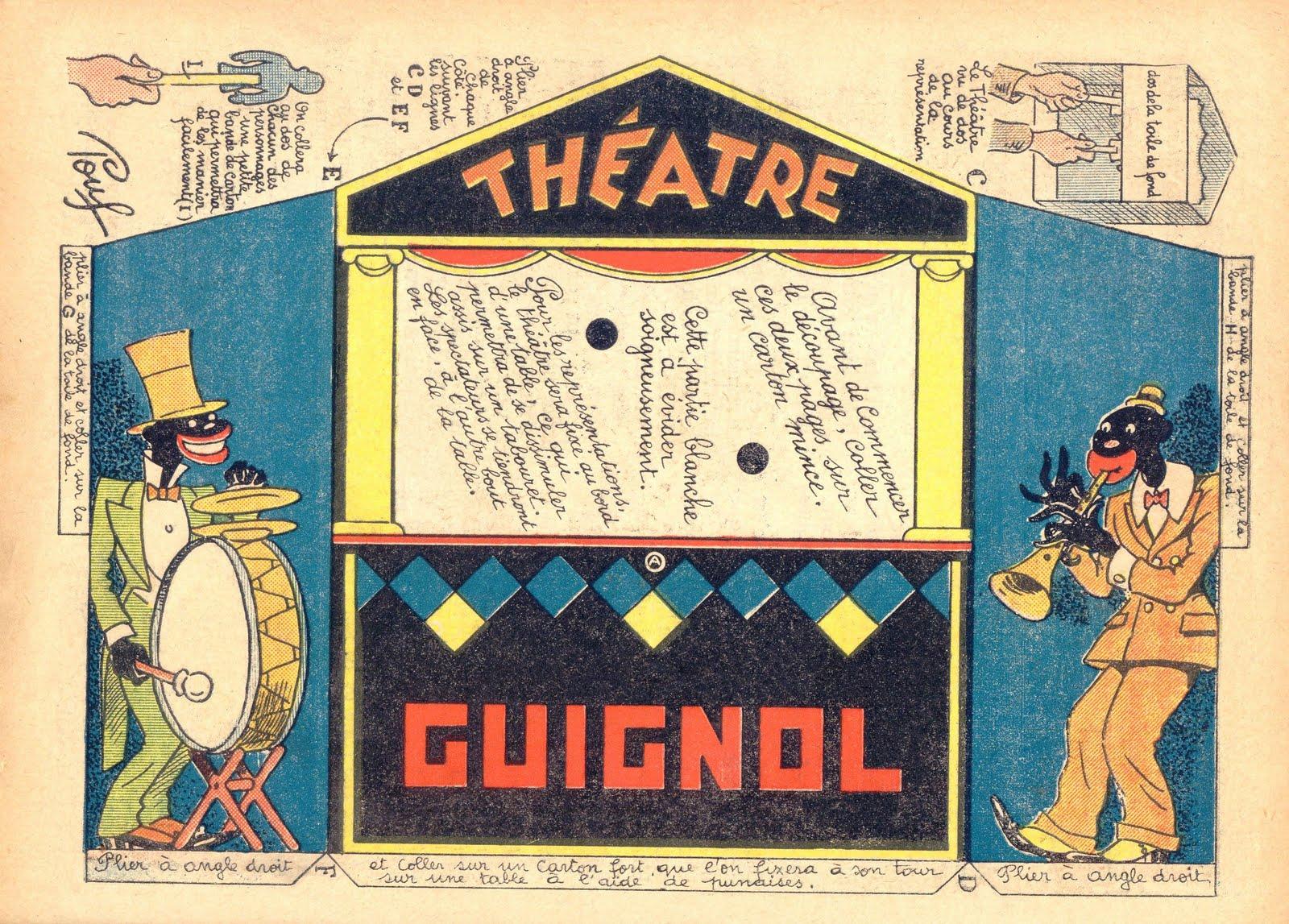 titeres, guiñol, teatro, papel, carton, plantillas, construir un teatro