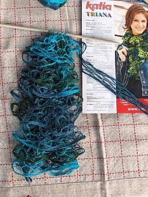 katia, lanas red, katia flamenco,ondas bufandas, labores, tejer, crochet