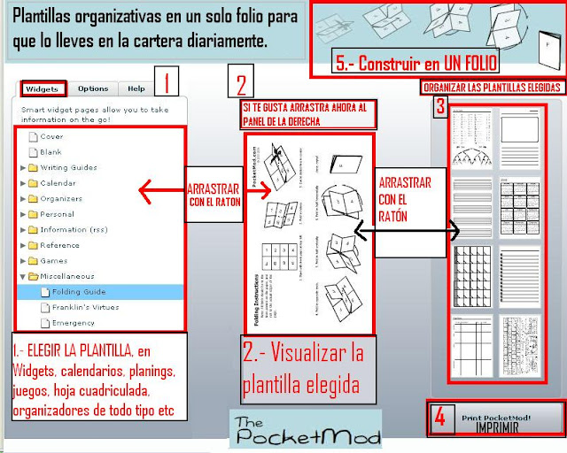 agenda, planing, folio,calendarios, ideas útiles,pocket mod,