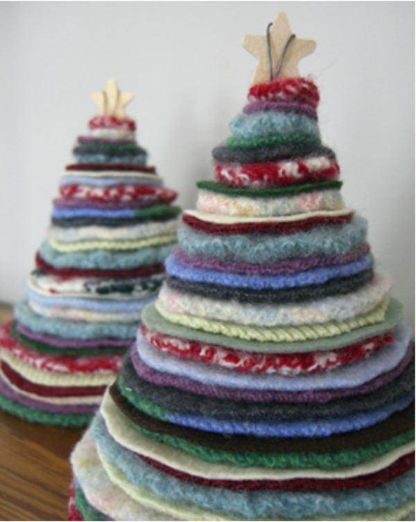 árboles, Navidad, fieltro, manualidades, fiestas, técnicas,artesanías