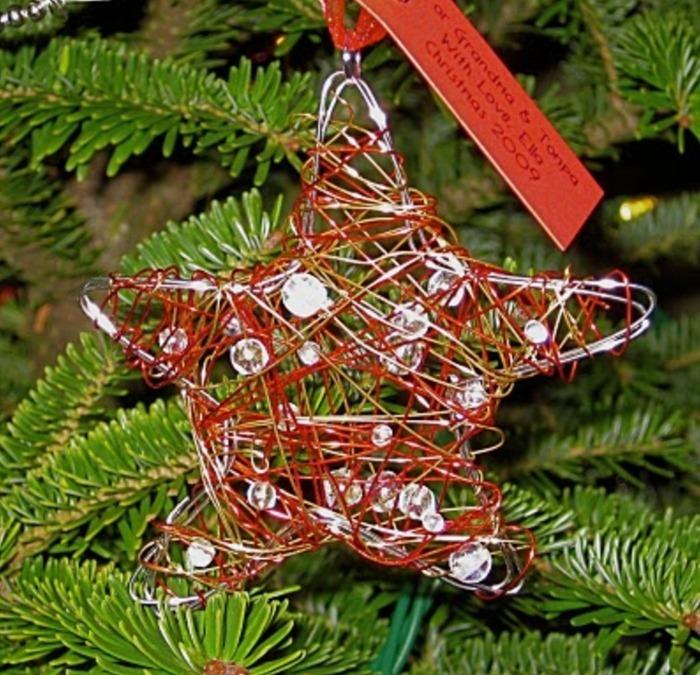 ornamentos, Navidad, estrellas, fiestas,manualidades, alambrismo