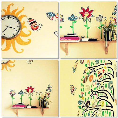 Como hacer adhesivos o siluetas decorativas - Adhesivos pared ikea ...