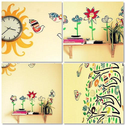 fotomurales, vinilos, decoración, adhesivos, siluetas, pared, hogar