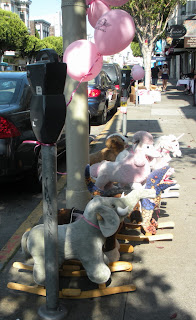 Hobbyhorses in the Marina Neighborhood of San Francisco