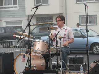 San Francisco Sunday Streets - Drummer at the Taraval Street Fair
