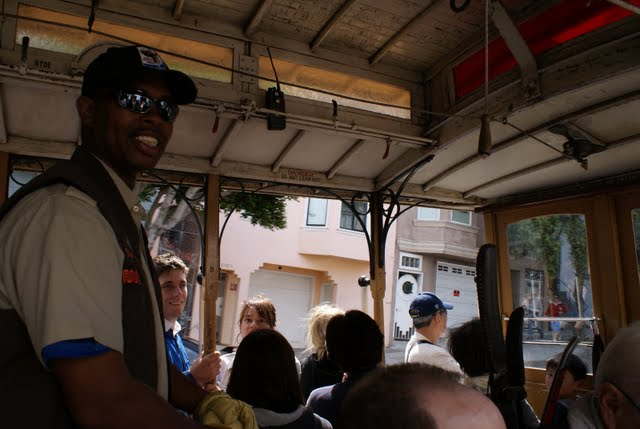 Barbary Coast Trail - Friendly Cable Car Driver