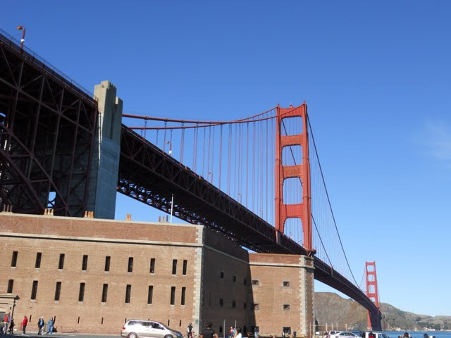 Hike to Fort Point in San Francisco