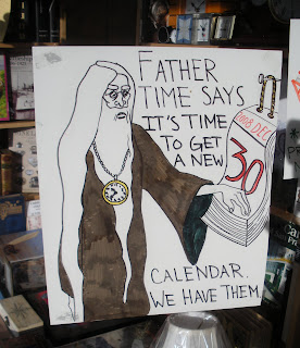 Russian Hill Bookstore - Father Time Says its time to get a new calendar
