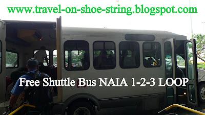FREE SHUTTLE, BUS, NAIA 1, NAIA 2, NAIA 3