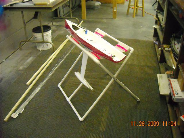 Iom Sailboat Build Pvc Boat Stand