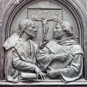 João Eck e Martinho Lutero