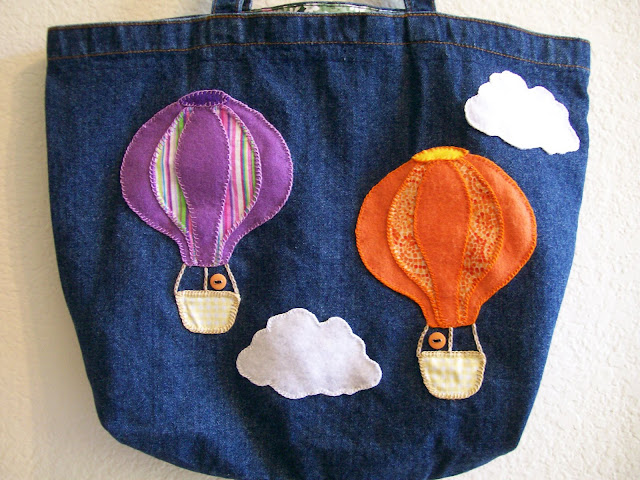 Felt Denim Crafts Hot Air Balloons Temecula California
