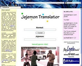 Jejemon translator millionaire dating
