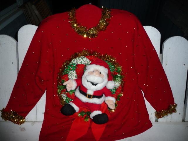 Ugly christmas sweater winner