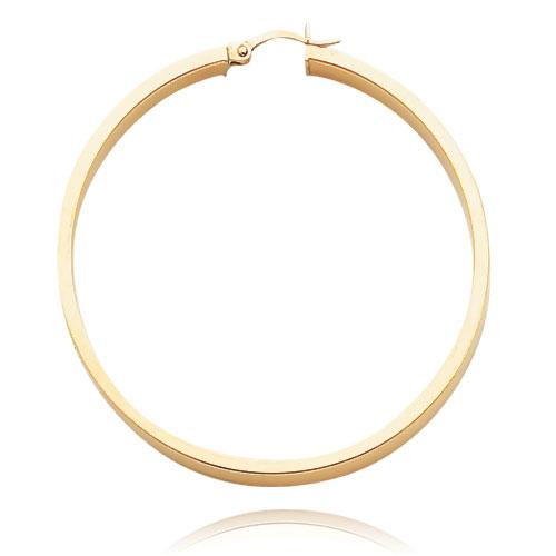 Flat Tube Hoop Earrings