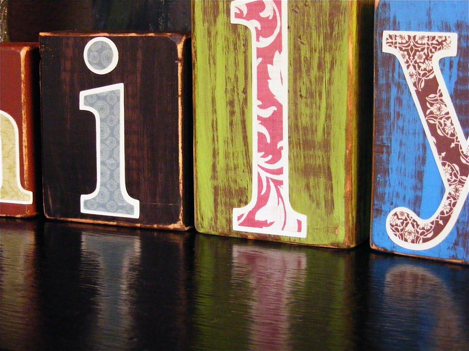 The Chica Boutique: Boutique Letter Blocks- {Family}