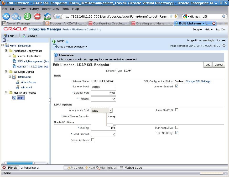 Enterprise User Security et Oracle Virtual Directory - EASYTEAM