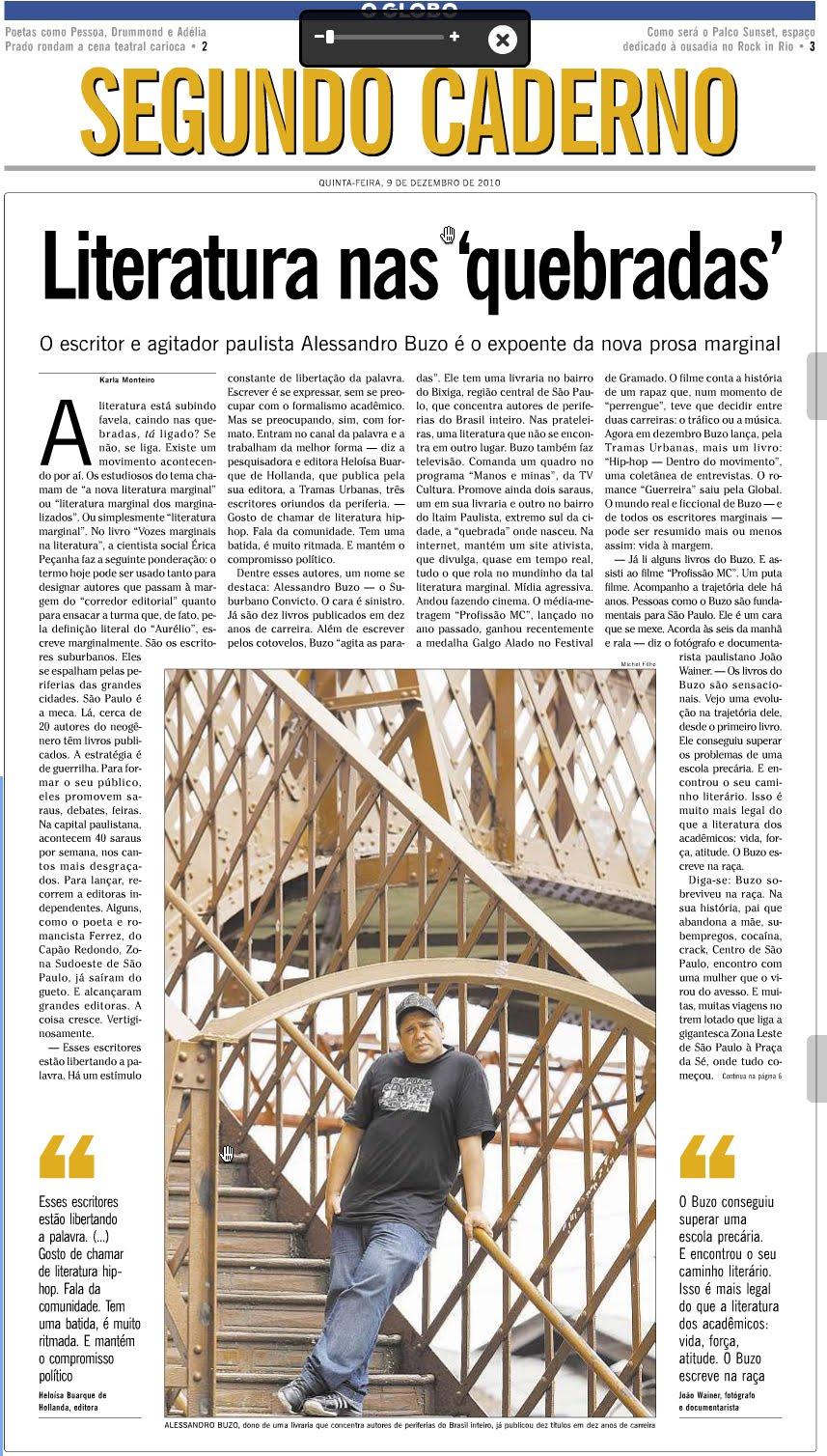 ee6520bf09 Buzo 10 - Blog Oficial Alessandro Buzo  Matéria no Jornal O GLOBO