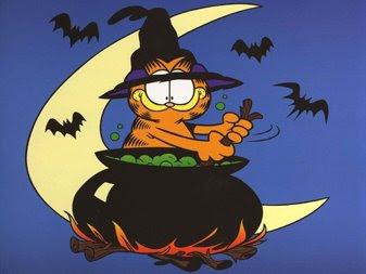 Cat In Fall Wallpaper Background Garfield Halloween