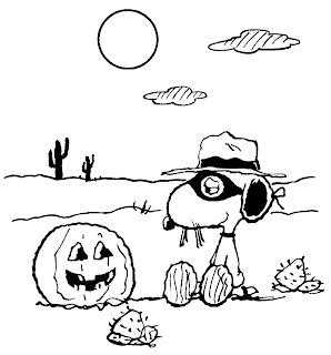 Dibujos para colorear snoopy y charlie brown halloween for Charlie brown halloween coloring pages