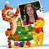 Winnie Fotomontaje navidad con tu foto y Winnie the Pooh y tiger