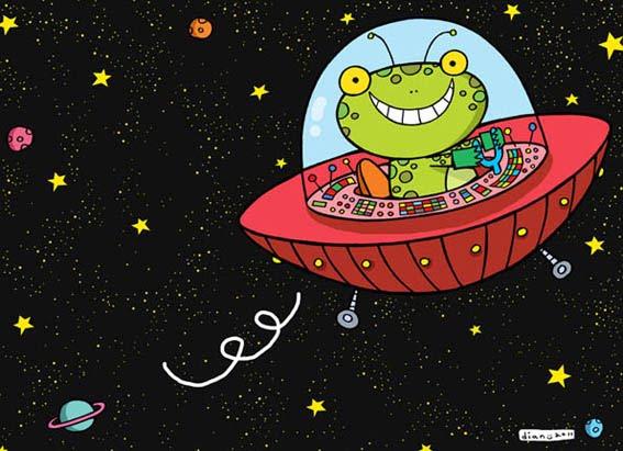 Gambarnya Aldriana kodok angkasa yang bahagia