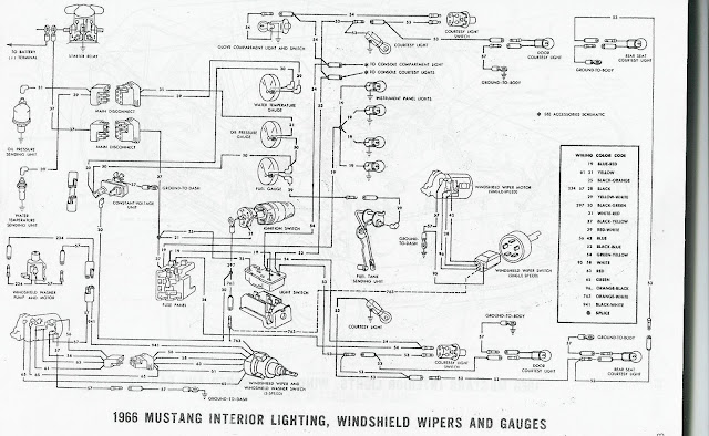 66 Mustang Wiring Diagram Wiring Diagram