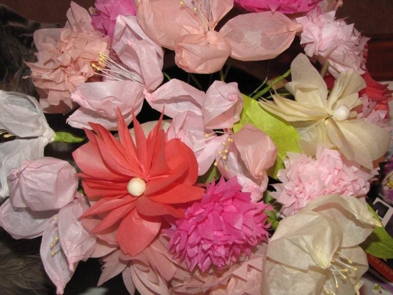Tissue paper flowers mightylinksfo