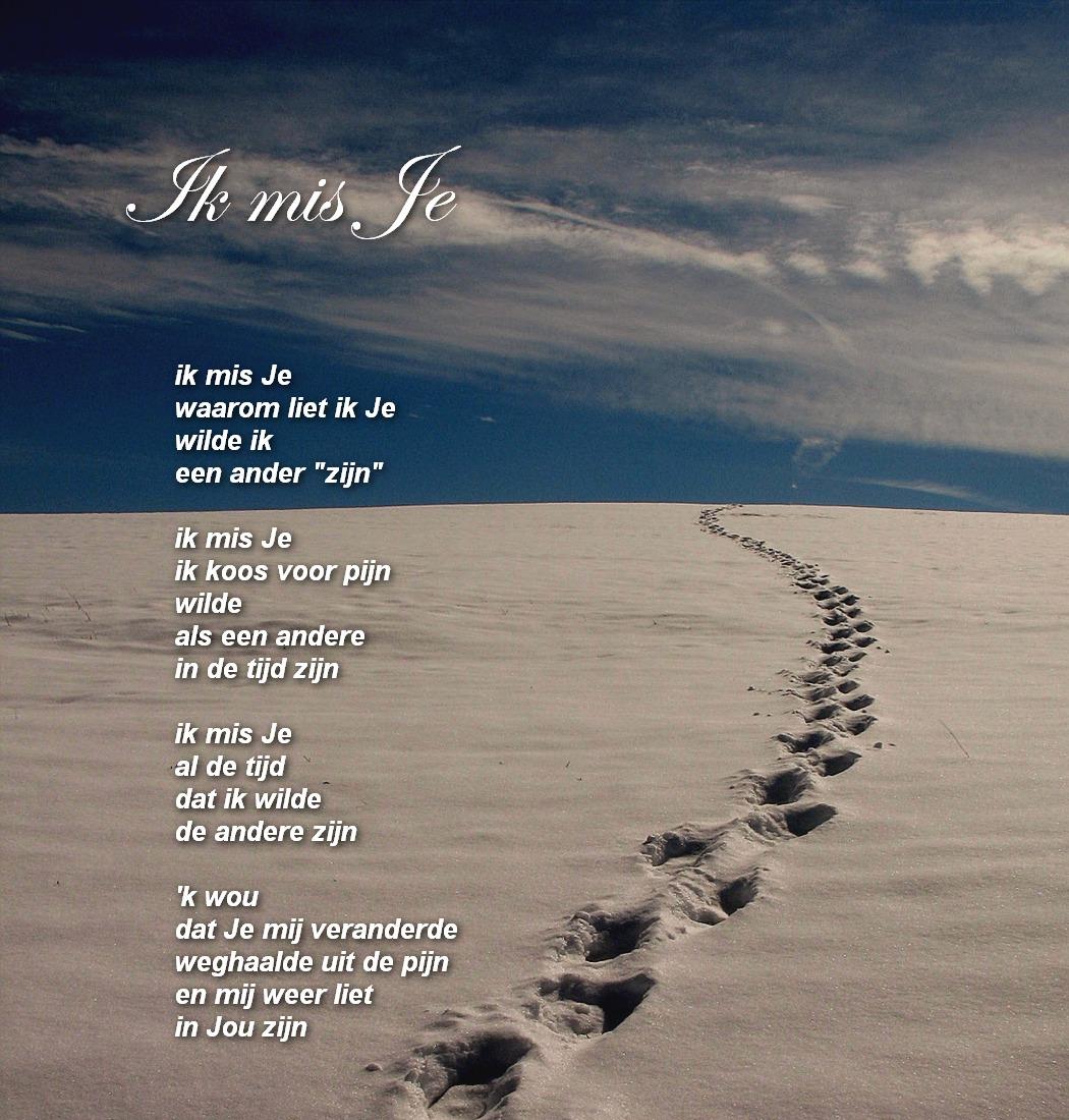 Welp Gedichten in beeld...: ik mis Je TD-16