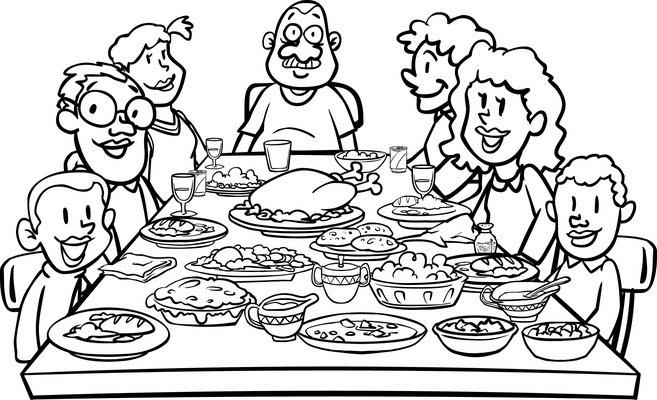 clipart family dinner table - photo #31