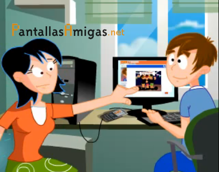 ilustración de la animación de Pantallasamigas sobre redes sociales en Internet