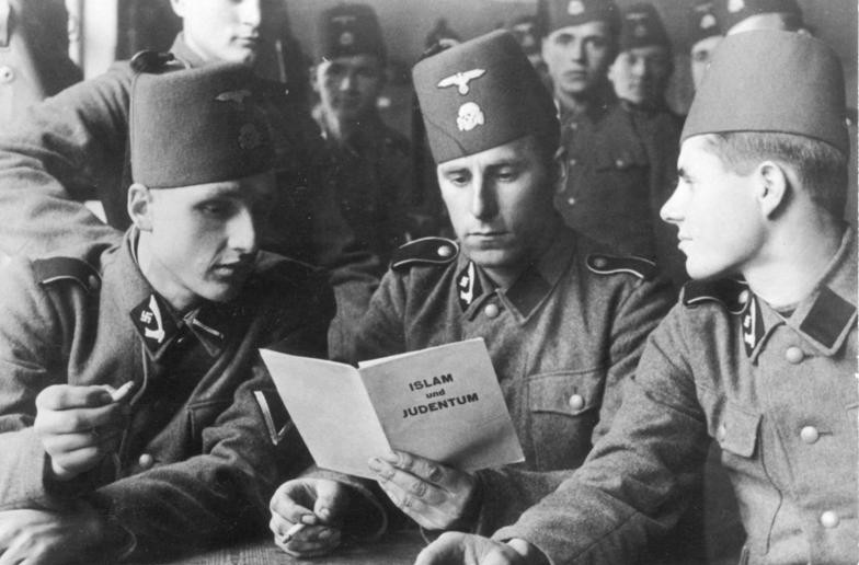 bf9e7bd3c78 Now this photo scares the hell out of me. Bosnian Muslims and Croats wore the  Fez as members of the Waffen SS Mountain Division.