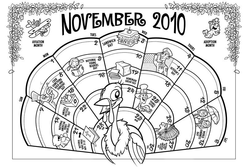 Greg Hardin's Art & Sketch Blog: November Calendar