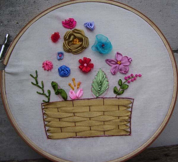 Gado-gado: Sulam Pita ( Ribbon Embroidery