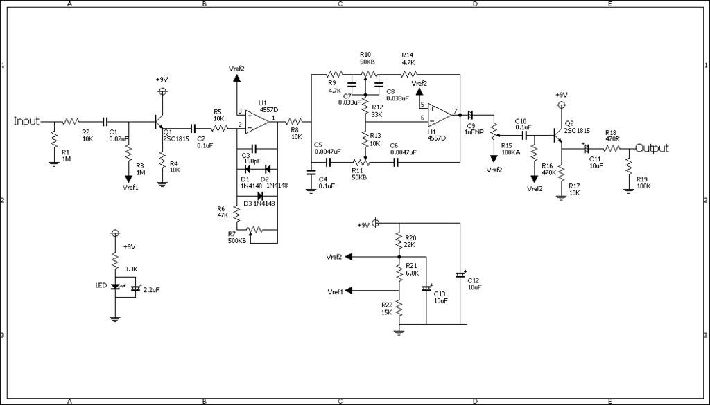 Guitar FX Layouts Xotic RC Booster