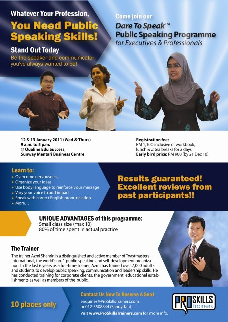 2-Day Dare To Speak™ Public Speaking Programme for Executives & Professionals